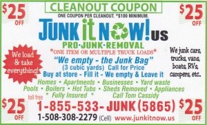 Junk It Now! Junk Removal Services Discount Coupon