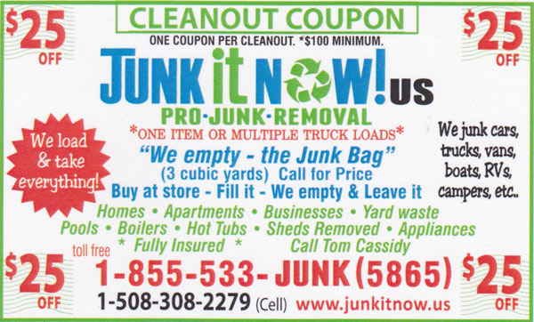 Junk It Now! Discount Coupon